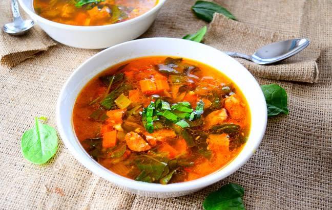 Chorizo, Chickpea & Saffron Soup