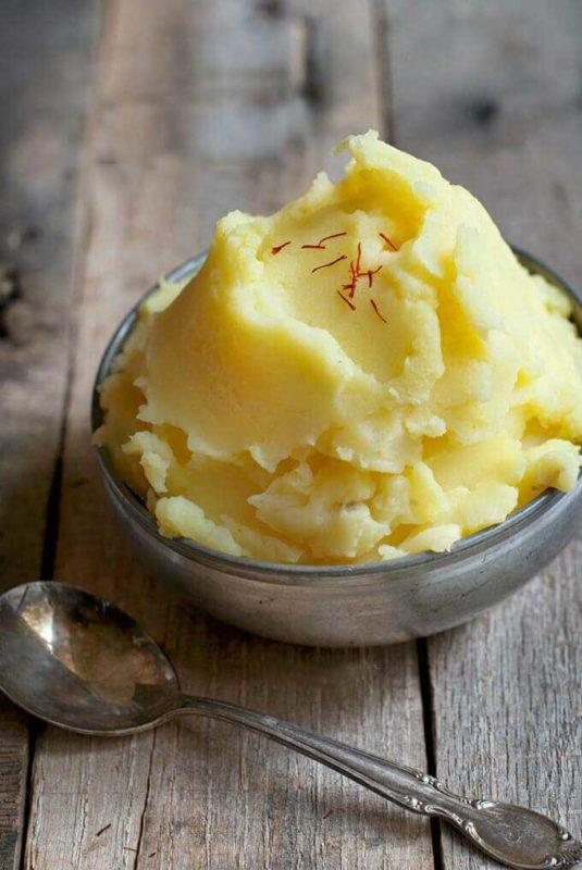 saffron mashed potatoes