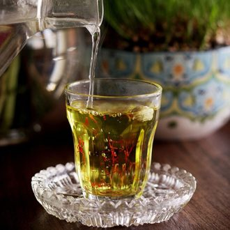 Saffron tea cup